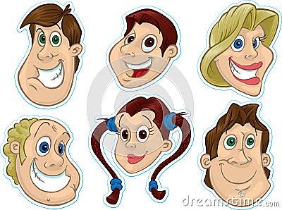 Smiling Face Fridge Magnet/Stickers #2