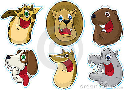Smiling Face Fridge Magnet/Stickers  (Animals) #3
