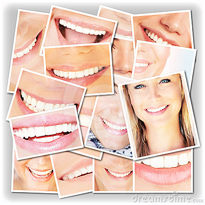 Free Smiling Faces Collage Stock Images - 24514354