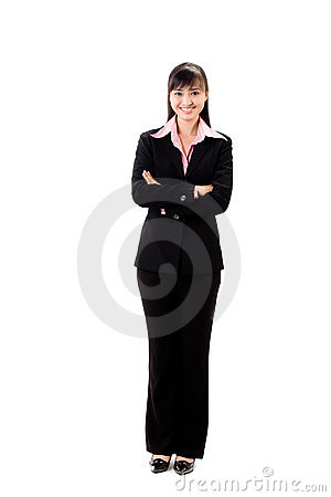 Smiling female executive