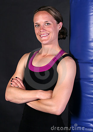 Smiling Fitness Girl