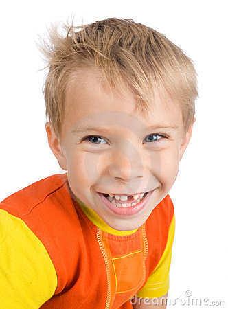 Smiling five-year-old boy