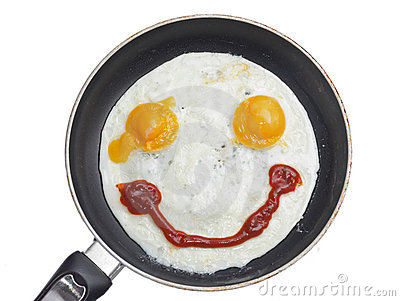 Smiling fried eggs