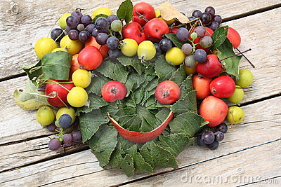 Smiling fruit face
