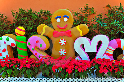 Smiling gingerbread cookie man