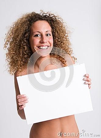Smiling girl billboard