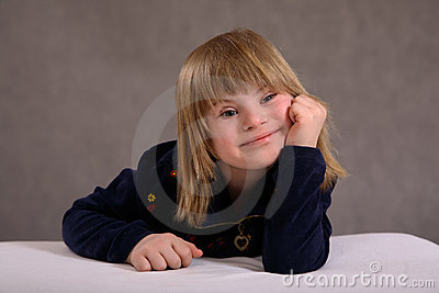 Smiling Girl with Disability