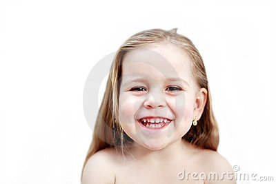 Smiling girl isolated