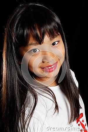 A smiling girl Korean