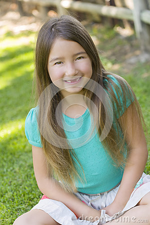 Smiling Girl with No Front Teeth