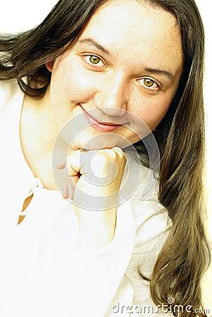 Smiling girl s portrait