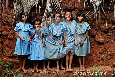 Smiling Girls Editorial Photo