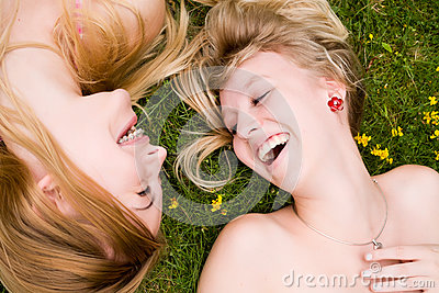 Smiling in the grass