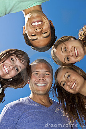 Free Smiling Group Of Multi-racial Young Adults Royalty Free Stock Image - 15082356