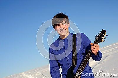 Smiling guitarist