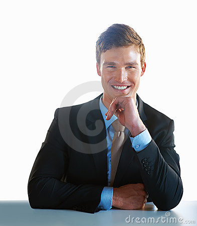 Smiling handsome business man