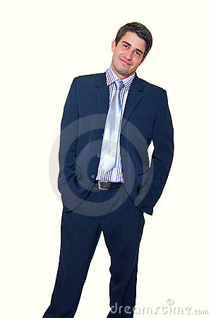 Smiling handsome young businessman