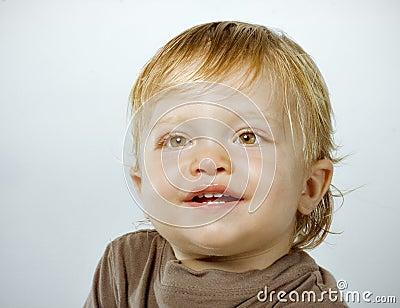Smiling happy boy portrait Stock Photo