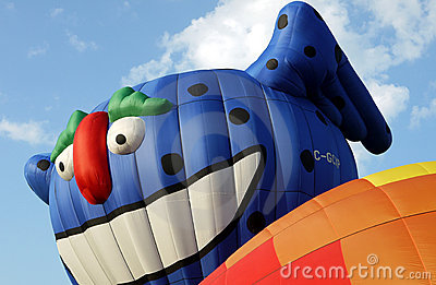 Smiling Hot Air Balloon Character