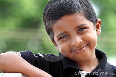 Smiling Indian Cute Boy