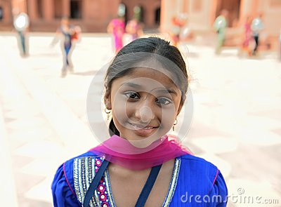 Smiling Indian Girl Editorial Photography