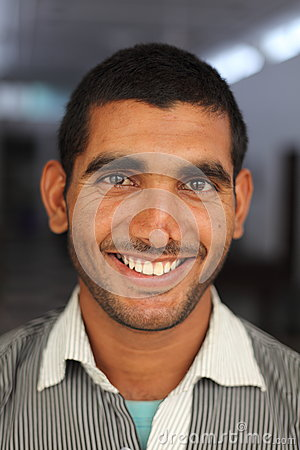 Smiling Indian man Editorial Stock Photo
