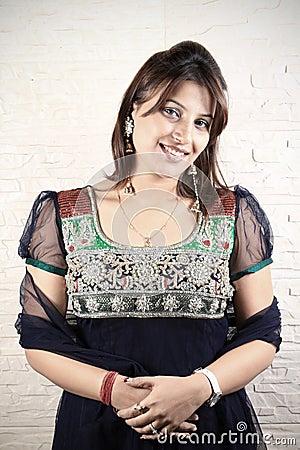 Smiling indian punjabi girl