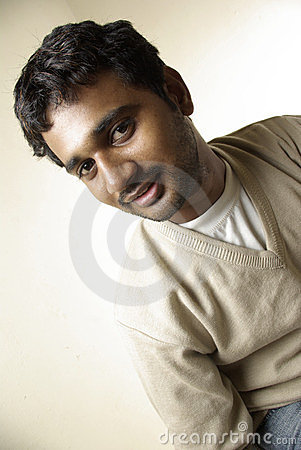 Smiling Indian young man