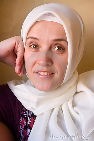Smiling islam woman