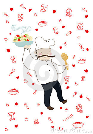 Smiling italian cook