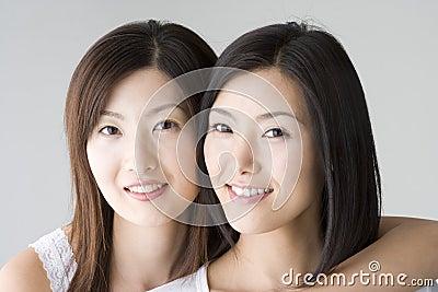 Smiling Japanese women