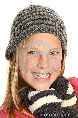 Smiling Kid wearing Gloves