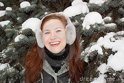 Smiling Lady in forest