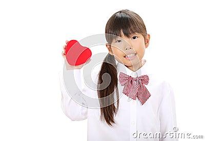 Smiling little asian girl