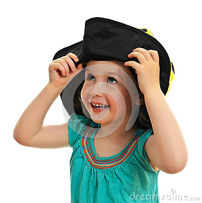 Smiling little girl in hat