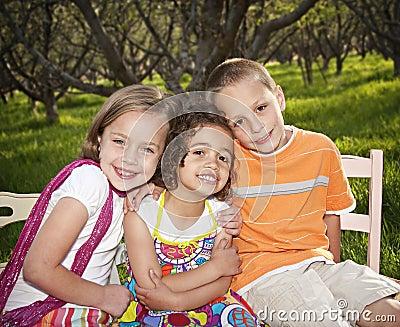 Smiling little kids