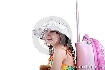 Smiling little tourist