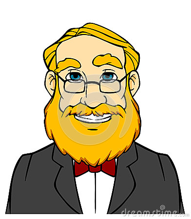 Smiling man with orange beard