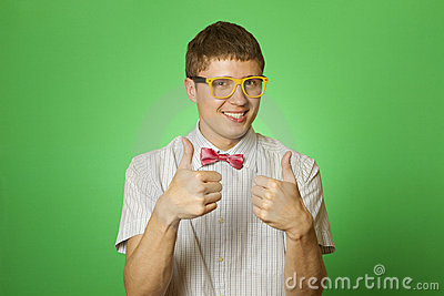 Smiling Man two thumbs up