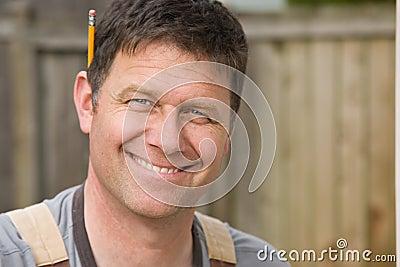 Smiling Man Worker