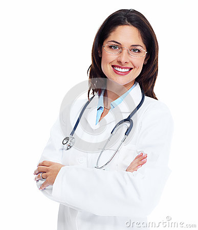 Free Smiling Medical Doctor Woman With Stethoscope. Stock Photography - 35552912