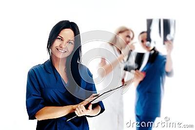 Smiling medical people.