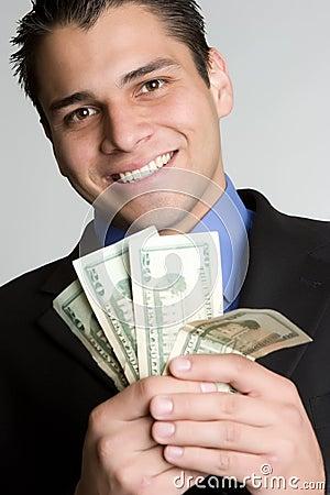 Free Smiling Money Man Royalty Free Stock Images - 9500119