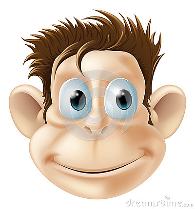 Smiling monkey illustration