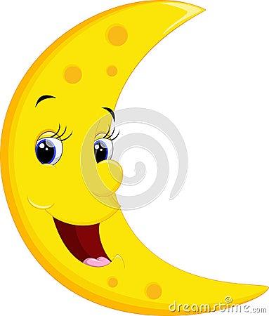 Free Smiling Moon Cartoon Stock Image - 55648161