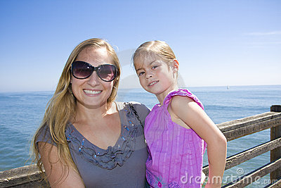 Smiling Mother And Daughter Portrait Outdoors Royalty Free Stock Image - Image: 19228356