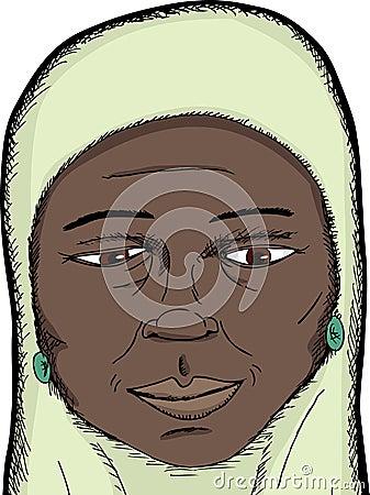 Smiling Muslim Woman
