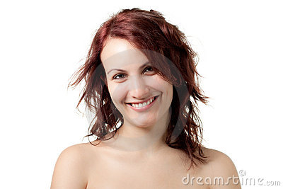 Smiling Naked Woman
