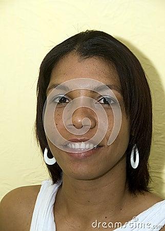 Smiling native creole black woman Nicaragua