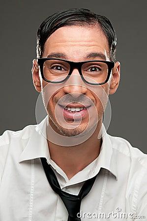 Smiling nerd